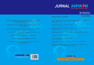 Cover Jurnal ASPIKOM Volume 3, Nomor 4, Januari 2018